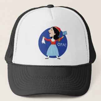 Greek Lady Dancing Trucker Hat