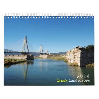 Greek landscapes wall calendar