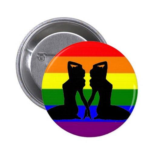 Greek Lesbian Pride Button