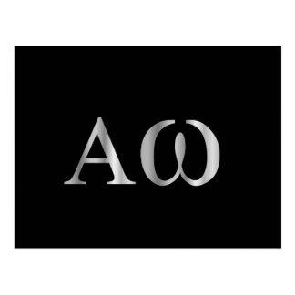 Greek Letter- Alpha and Omega Postcard