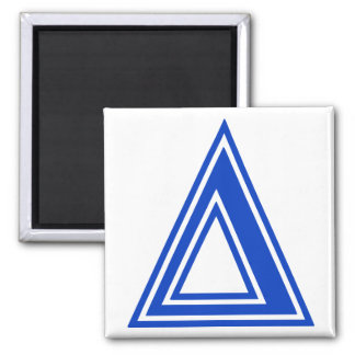 Greek Letter Delta Blue Monogram Initial Magnet