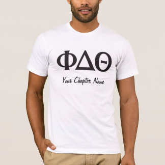 Greek Letters- Black T-Shirt