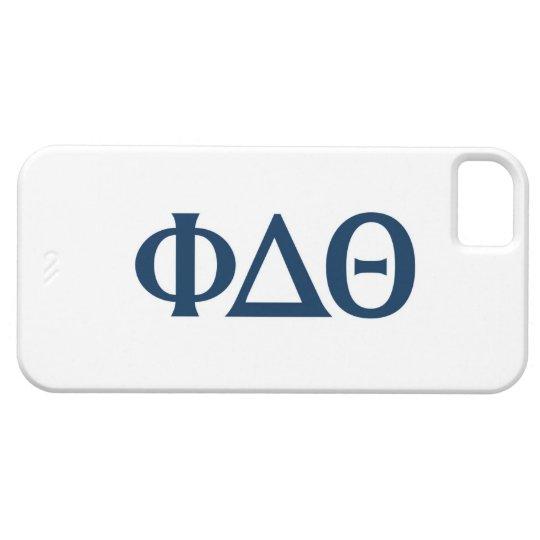 Greek Letters - Blue iPhone SE/5/5s Case