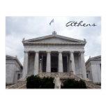greek library athens postcard