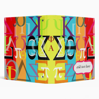 Greek life binder.. customize spine w/ ur sorority binder