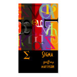 Greek life calling cards business cards