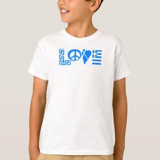 Greek Love Peace Flag Youth Shirt
