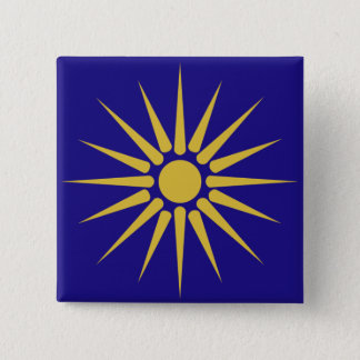 Greek Macedonia, Greece flag Pinback Button