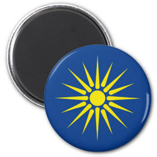 greek macedonia region flag greece country refrigerator magnet