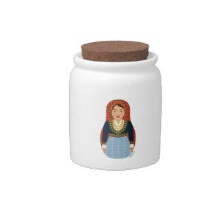 Greek Matryoshka Candy Jar