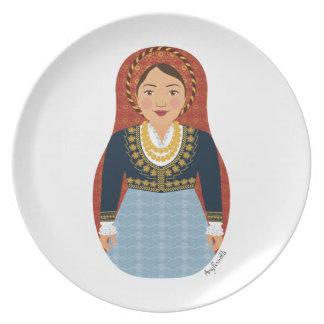 Greek Matryoshka Plate