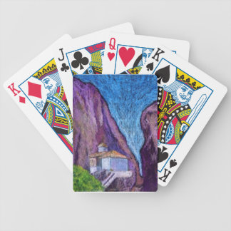 Greek Monastery Bicycle Playing Cards