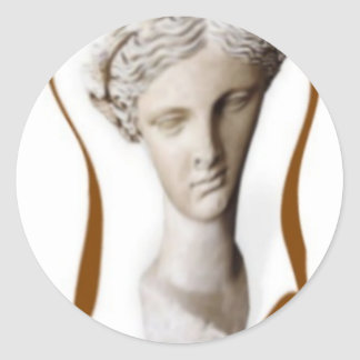 greek muse of poetry 2 classic round sticker