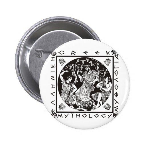 Greek Mythology - Black 2 Inch Round Button