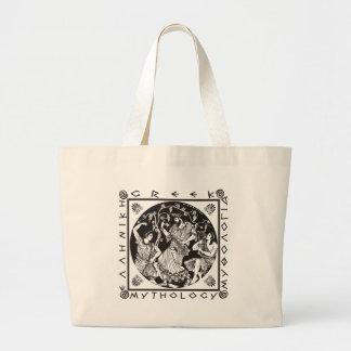 Greek Mythology - Black Large Tote Bag