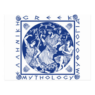 Greek Mythology - Blue Postcard