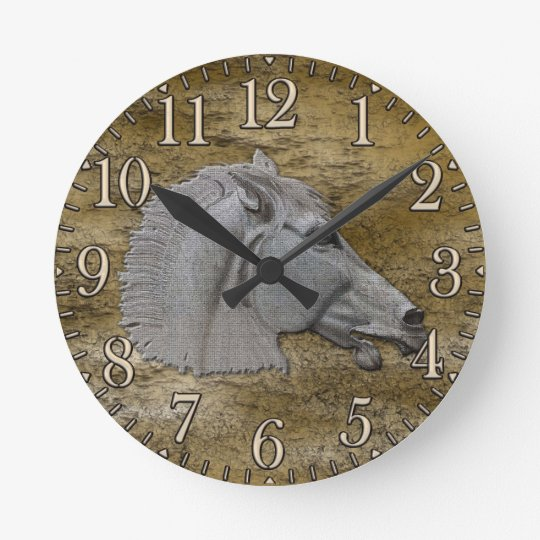 Greek Mythology Classical Horse Head Round Clock