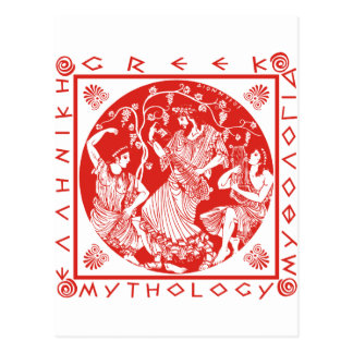 Greek Mythology - Red Postcard
