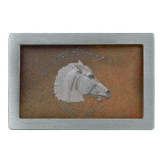 Greek Mythology Year of the Horse Belt Buckle