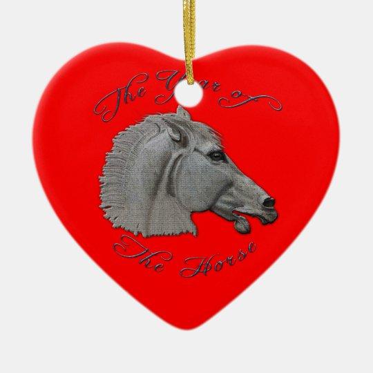 Greek Mythology Year of the Horse Ceramic Ornament
