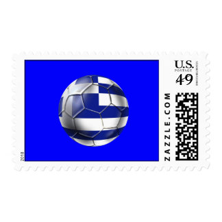 Greek national football team fans Hellenic Tees Postage Stamps