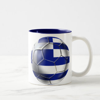 Greek national football team fans Hellenic Tees Two-Tone Coffee Mug