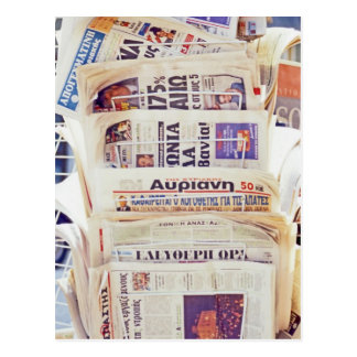 Greek Newspapers Postcard