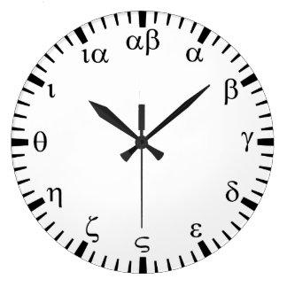 Greek numbers large clock