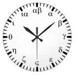Greek numbers wall clock