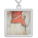 Greek or Turkish woman Square Pendant Necklace