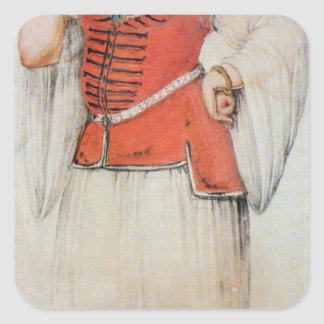 Greek or Turkish woman Square Sticker