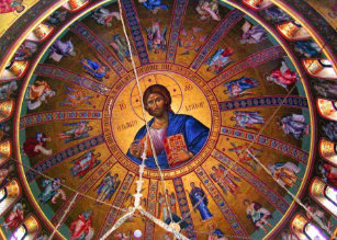 greek orthodox ceiling beauty of christmas holiday card