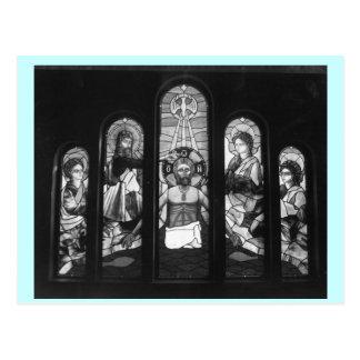 GREEK ORTHODOX CHURCH~DESTIN, FL~ STAINED GLASS POSTCARD