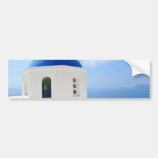 Greek orthodox church in Santorini island, Greece Bumper Sticker