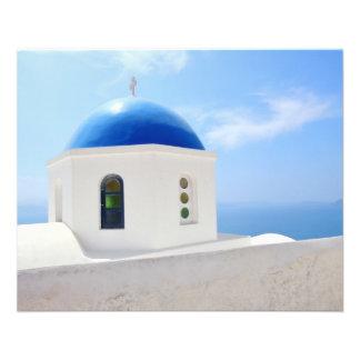 Greek orthodox church in Santorini island, Greece Flyer