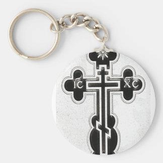 Greek Orthodox Cross Keychain