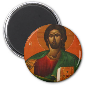 GREEK ORTHODOX ICON JESUS CHRIST 2 INCH ROUND MAGNET