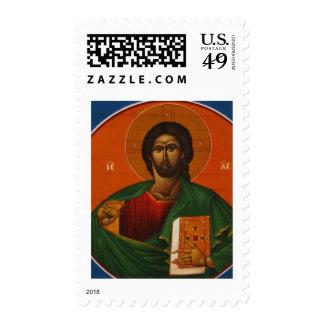 GREEK ORTHODOX ICON JESUS CHRIST POSTAGE