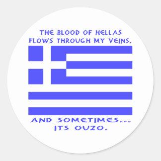 Greek Ouzo Classic Round Sticker