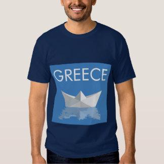Greek PAPER BOAT Tee Shirt