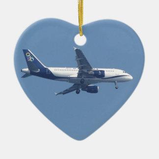 Greek Passenger Jet Ceramic Ornament