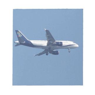 Greek Passenger Jet Memo Pad