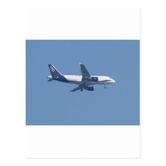 Greek Passenger Jet Postcard