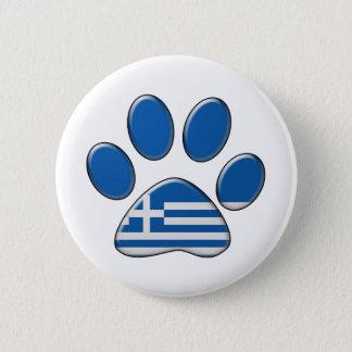 Greek patriotic cat pinback button