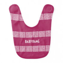 Greek Pattern custom baby bib