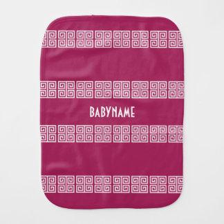 Greek Pattern custom baby burp cloth