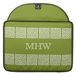 Greek Pattern custom monogram MacBook sleeve