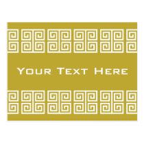 Greek Pattern custom postcard
