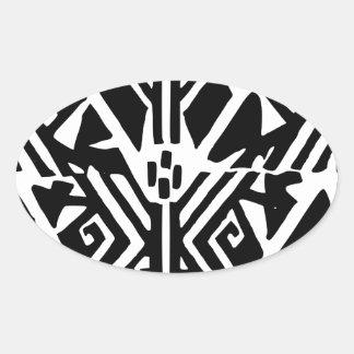 Greek Pattern Oval Sticker