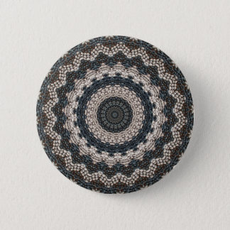 Greek pebble Mosaic from the Isle of Rhodes Pinback Button